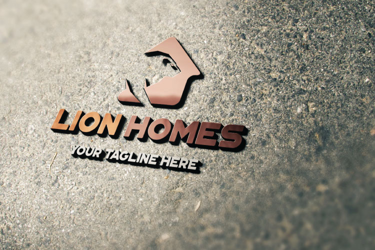 Real Estate, Lion in house Logo example image 3
