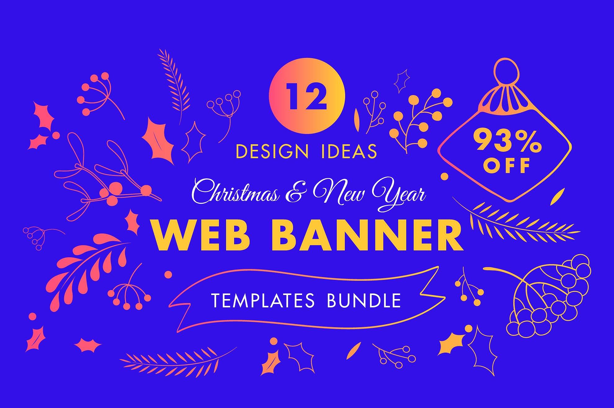 Winter Web Banner Design Templates Bundle Sale