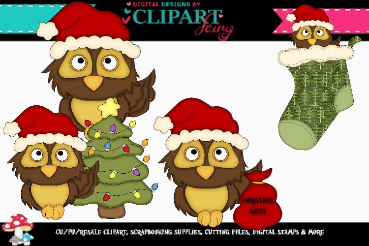 Brown Christmas Owls example image 1
