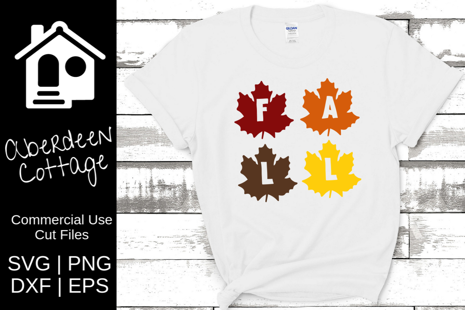Fall Leaves Cut Out SVG Design 2 example image 1