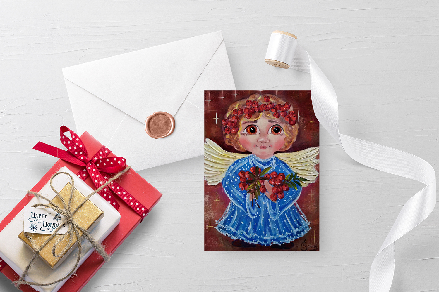 christmas angels cards example image 6