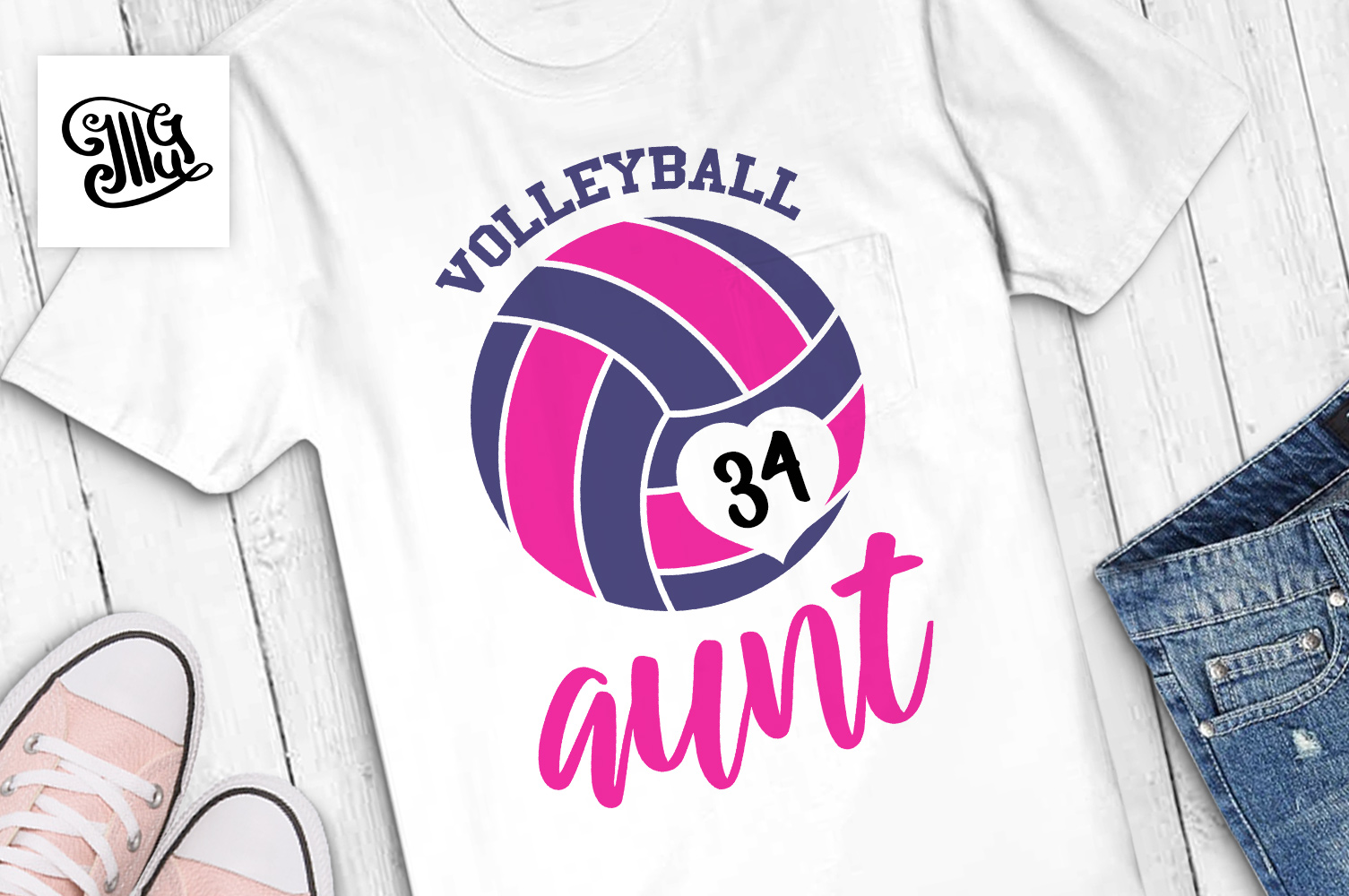 Volleyball svg bundle example image 29