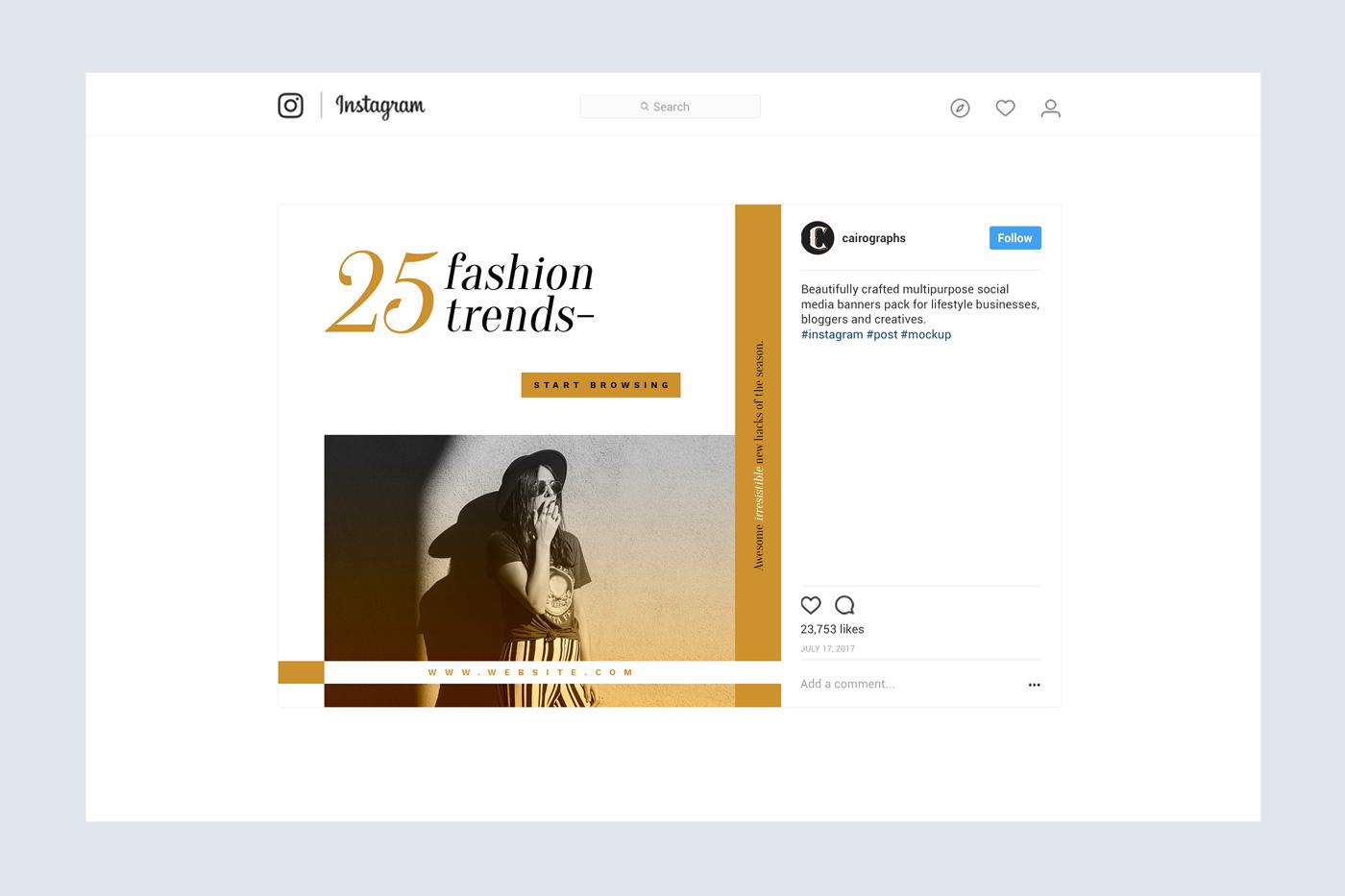 Elegance Instagram Pack example image 6