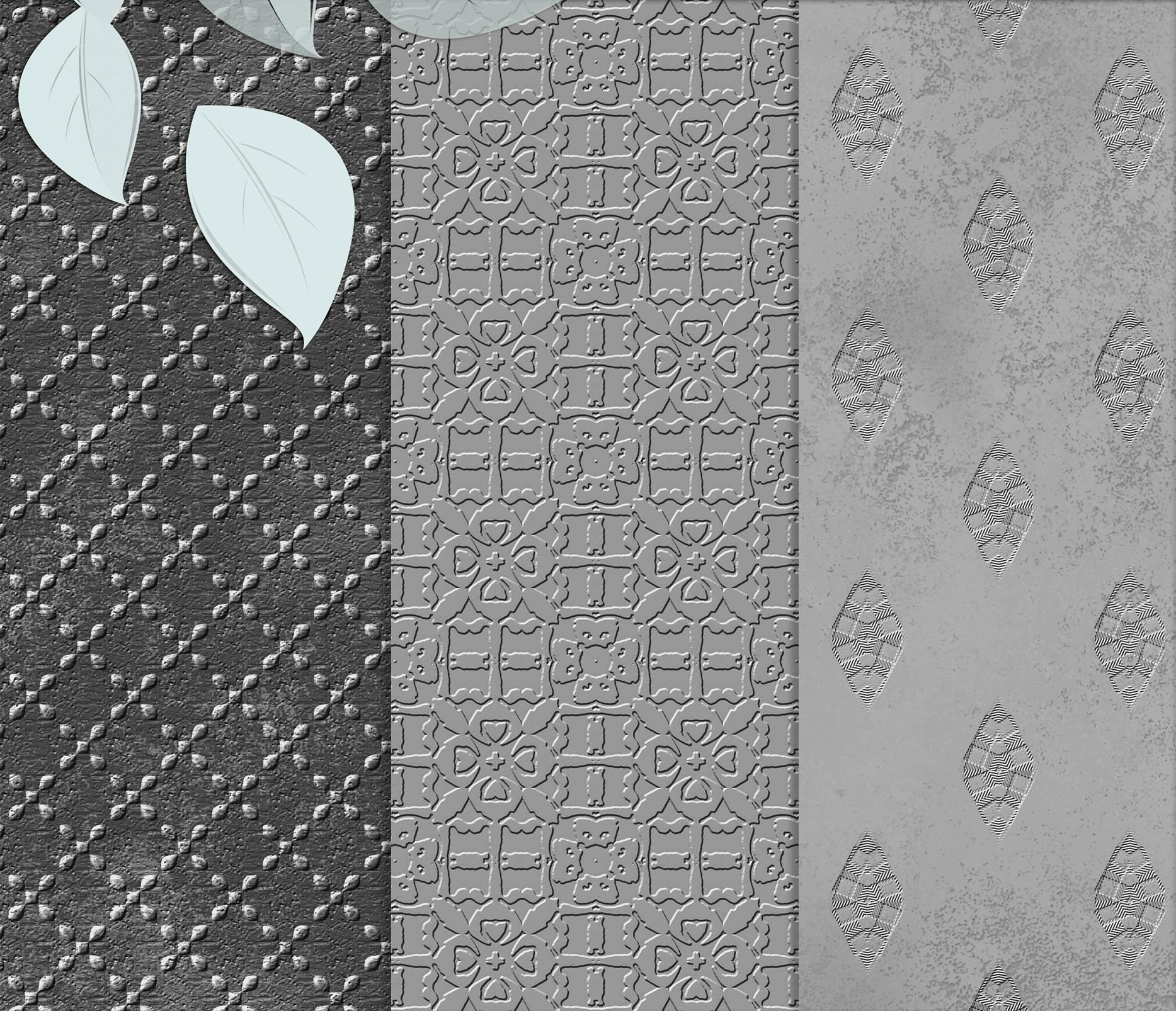 Royal Silver textures, digital Printable Scrapbook Paper example image 3