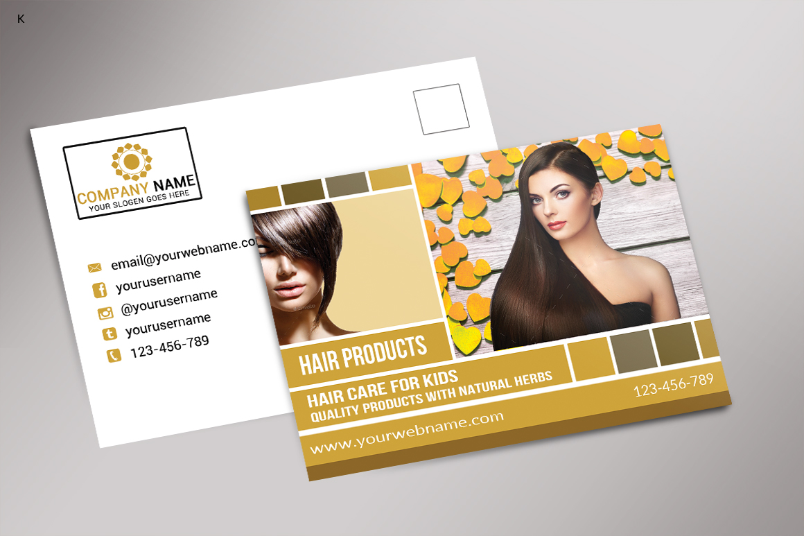 Hair Products Post Card example image 2
