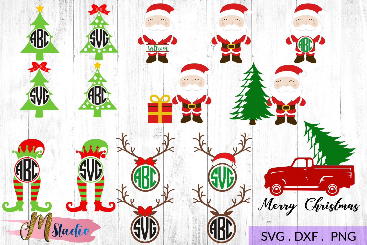 The big christmas svg bundle, Christmas SVG Cut File. example image 8