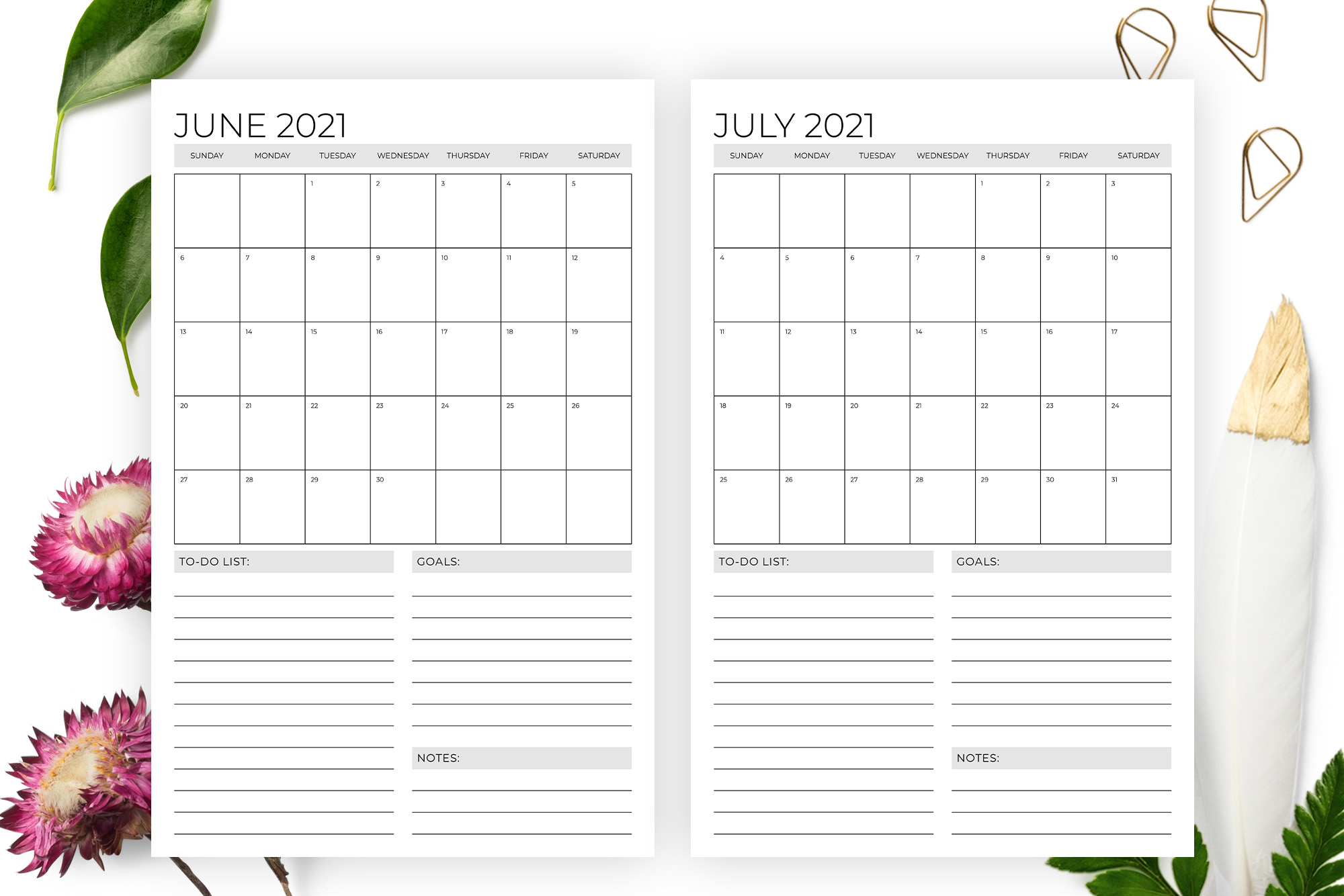 Vertical 11 x 17 Inch 2021 Calendar example image 3