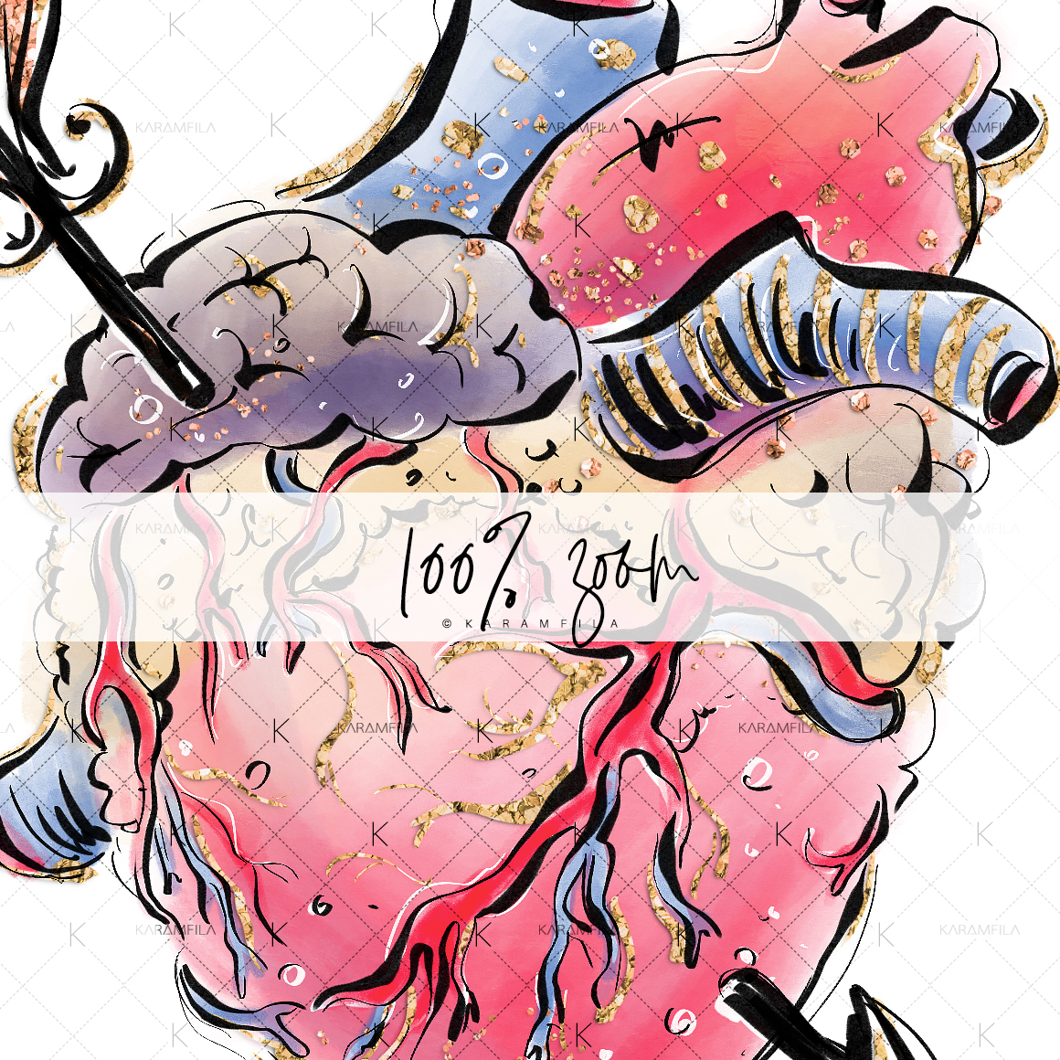 Creepy Valentine's Day Clipart example image 6