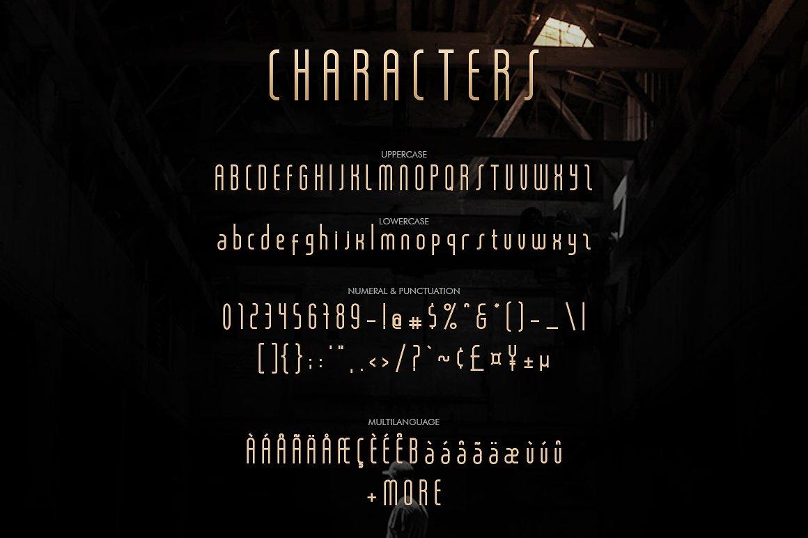 Salah Sans Serif 8 Font Family example image 6