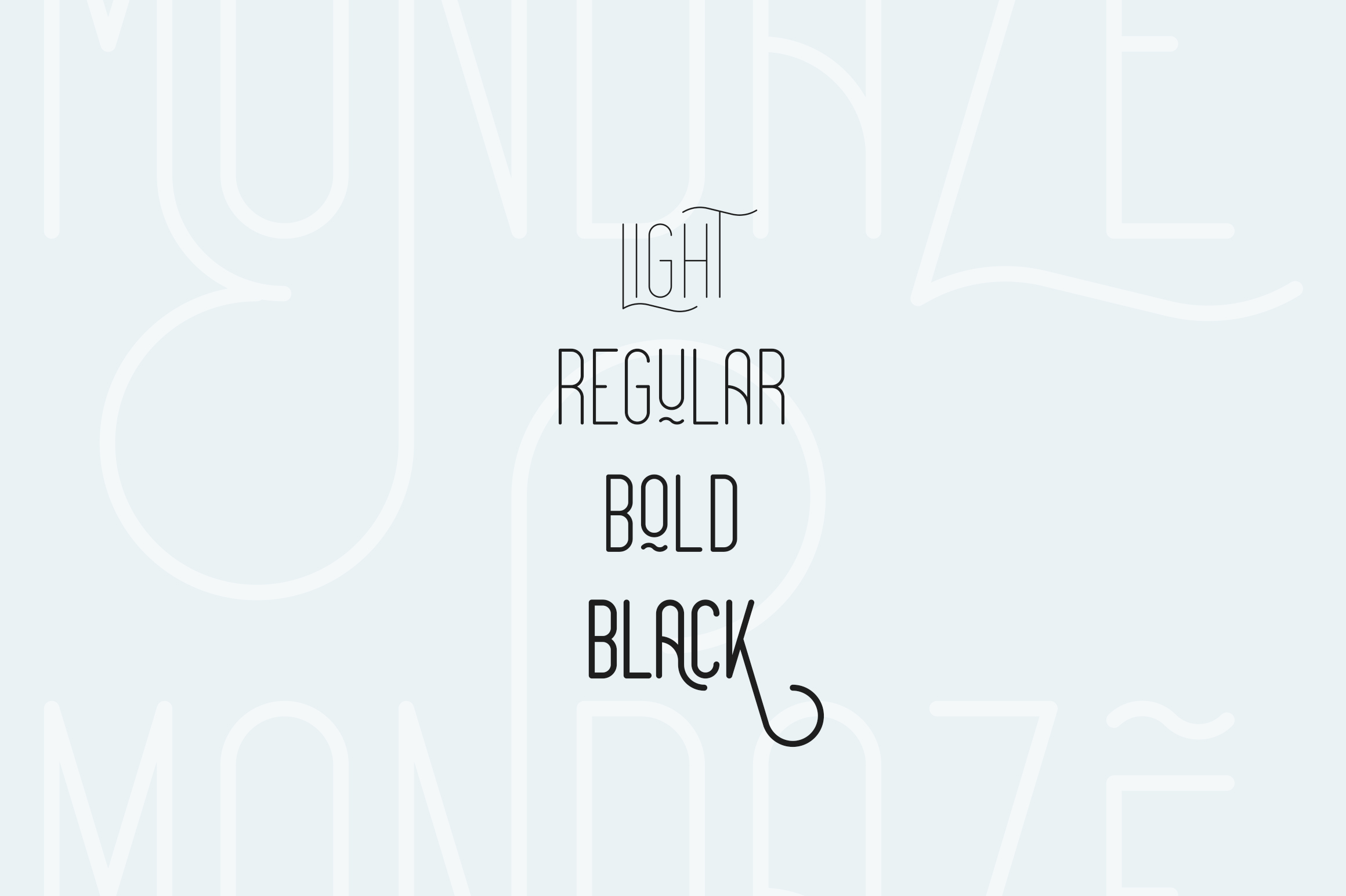 Mondaze Typeface - 4 Weights example image 2