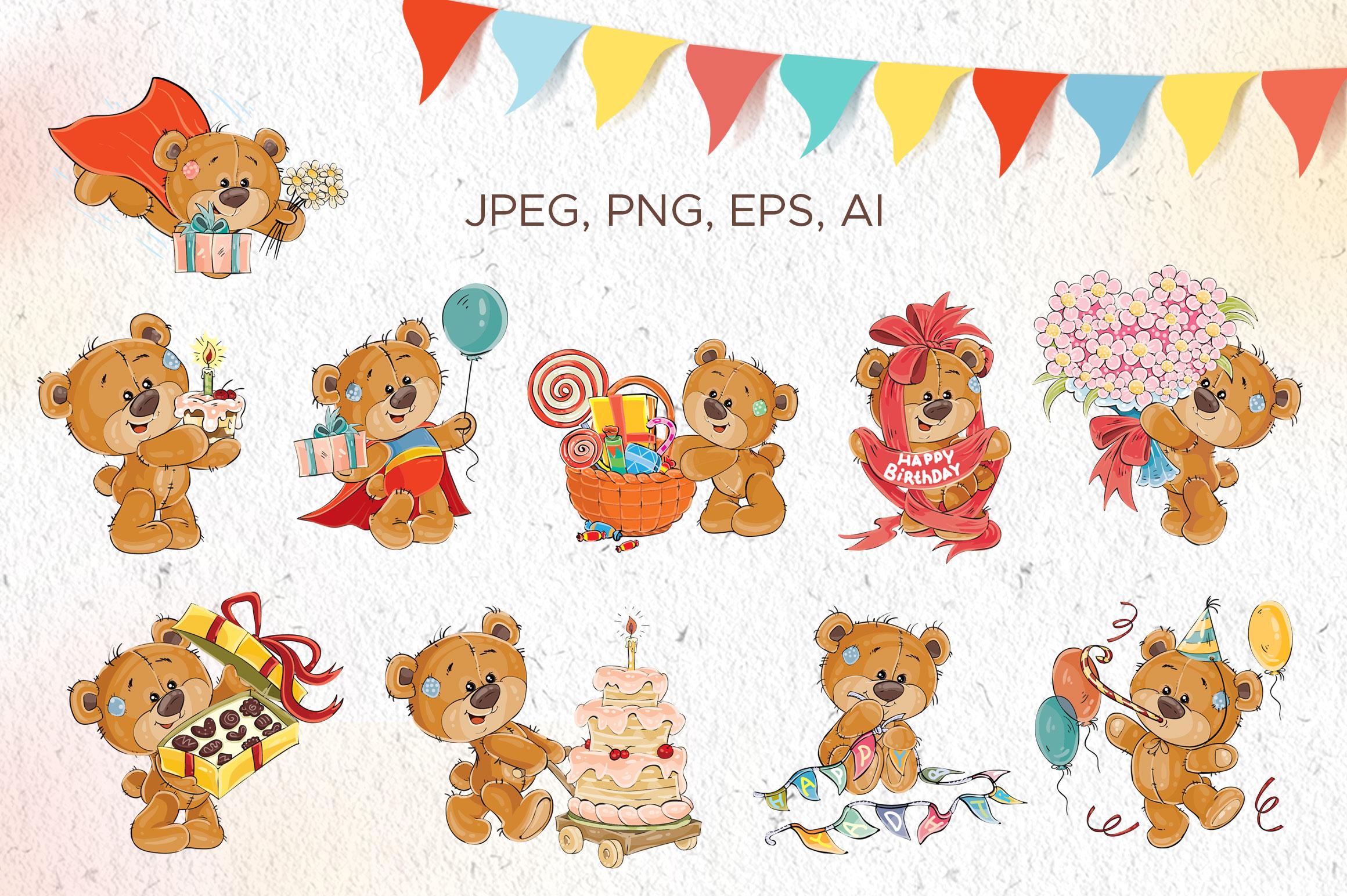 Lovely teddy bears. Happy Birthday. example image 4