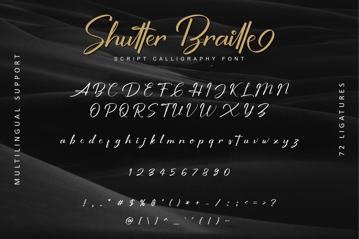 Shutter Braille Script example image 9