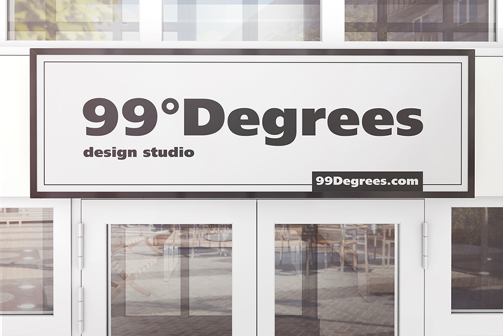 Building Advertising Signboard Mockup example image 4