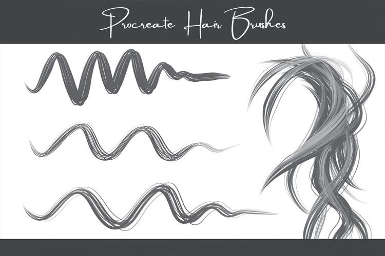 Procreate Hair Brushes 1.0 example image 2