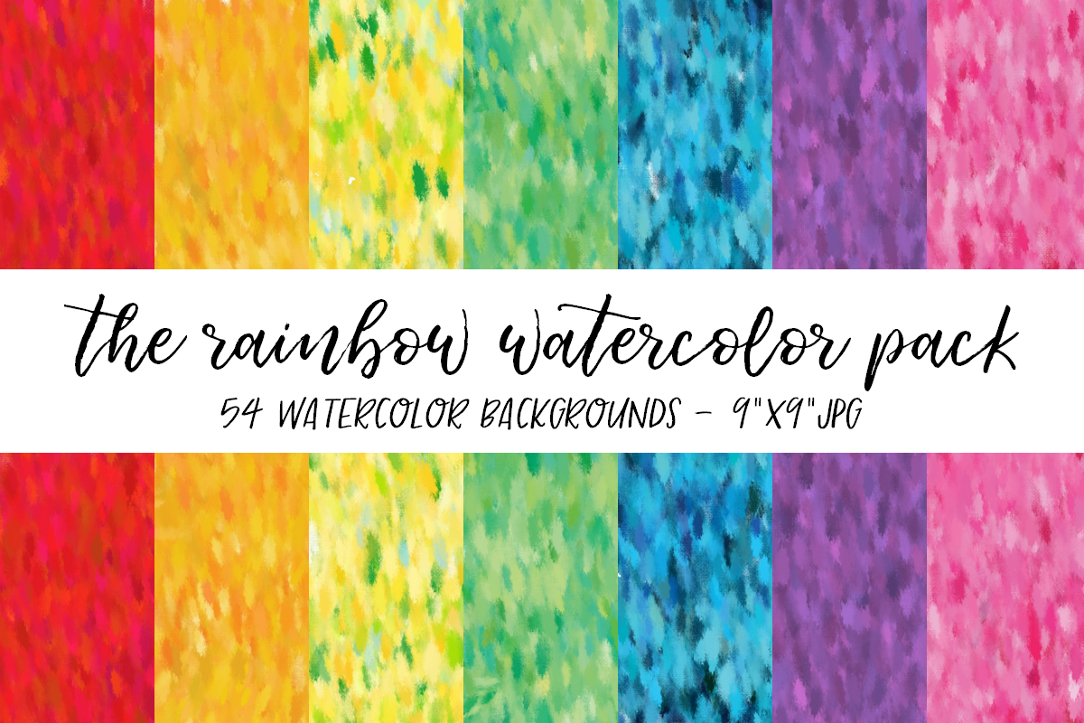 Rainbow Watercolor Backgrounds example image 1