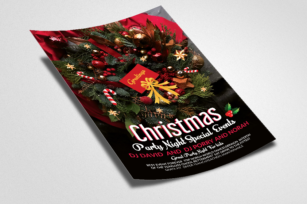 Christmas Party Special Night Flyer example image 2