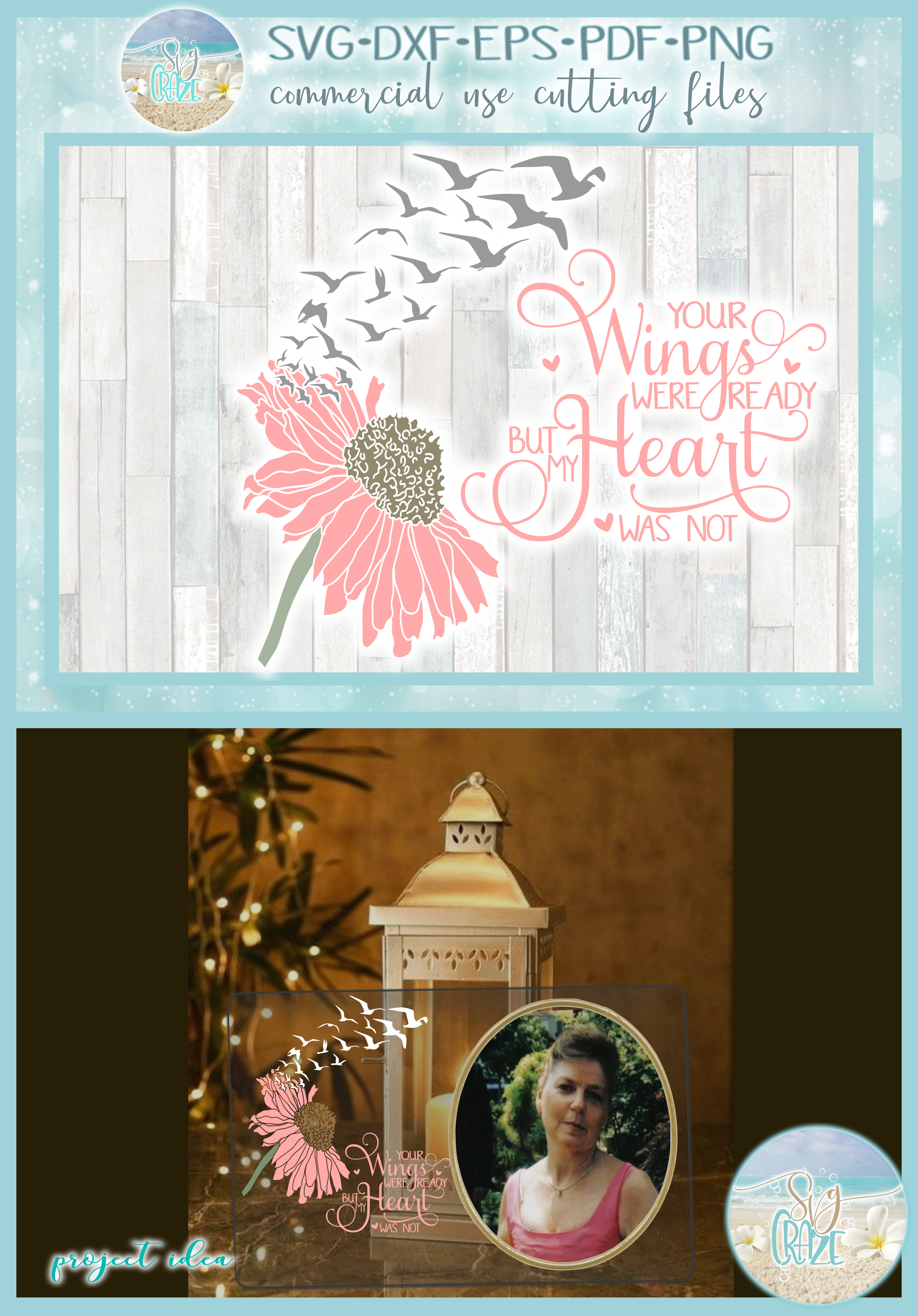 Your Wings Were Ready But My Heart Was Not with Daisy SVG example image 4
