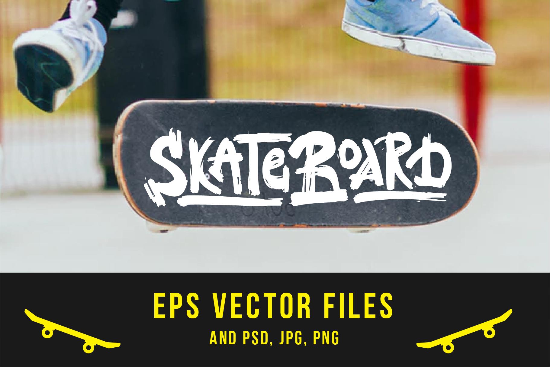 Skateboarding t-shirt design example image 4