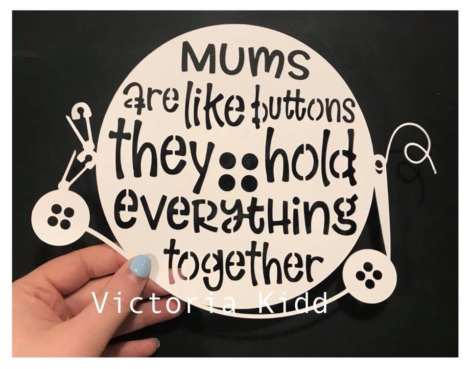 Mothers Day svg, Moms are like buttons, SVG, DXF, PNG example image 2