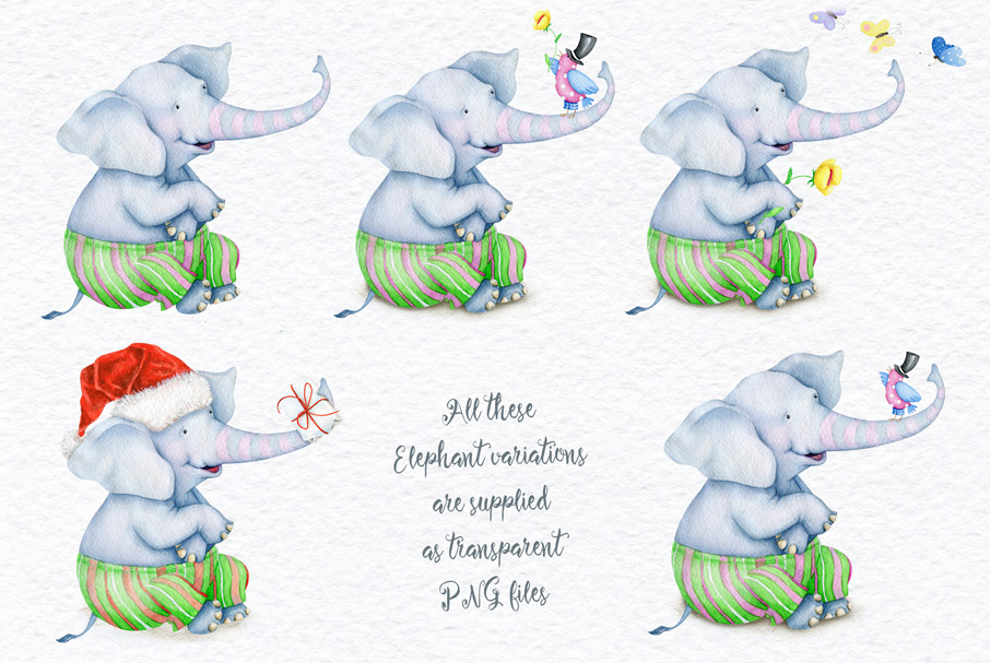 Watercolor Animals + BONUS example image 4