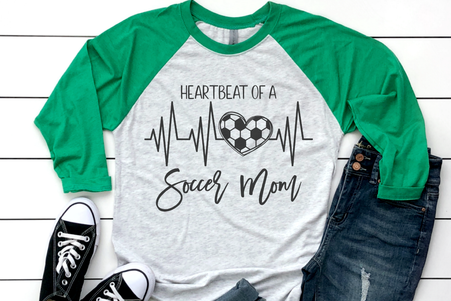 Soccer Mom - Heartbeat Of A Soccer Mom SVG example image 2