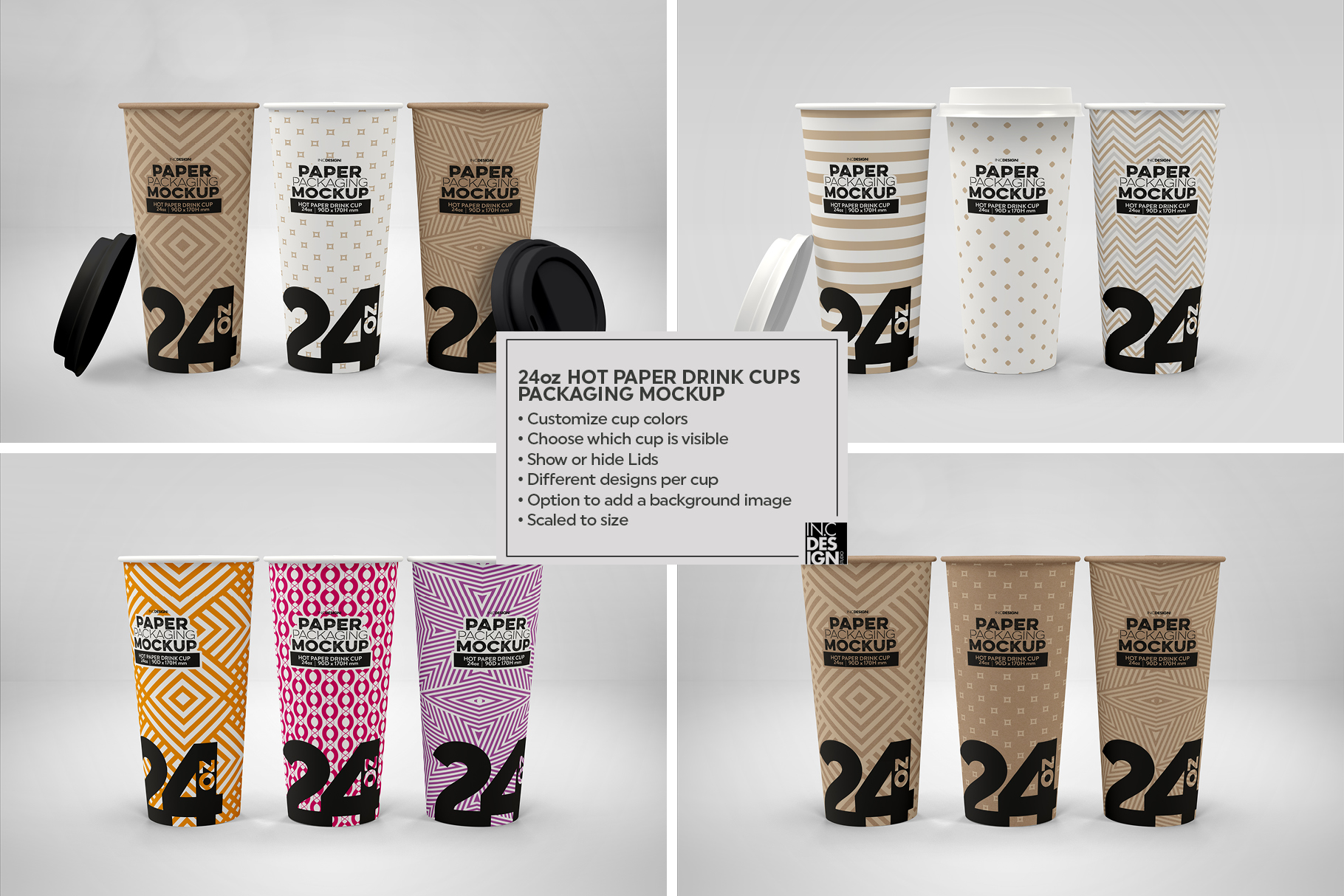 Paper Hot Drink Cups Packaging Mockup example image 8
