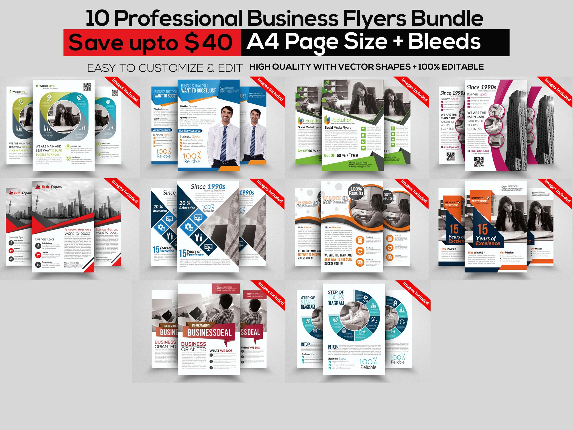 115 Mix Print Template Mega Bundle / Low Priced example image 7