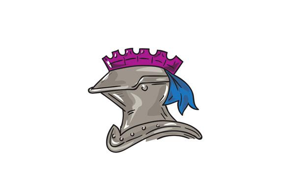 Knight Helmet Drawing example image 1