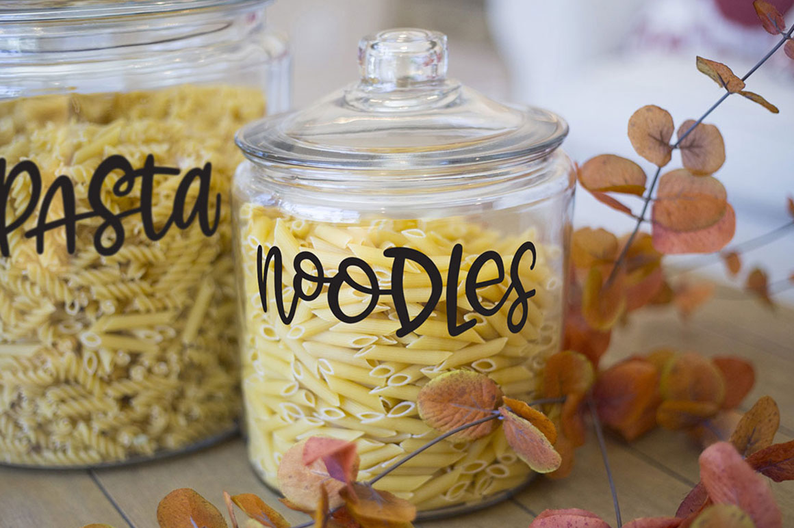 Kitchen Canister Label Set - Hand-Lettered example image 5