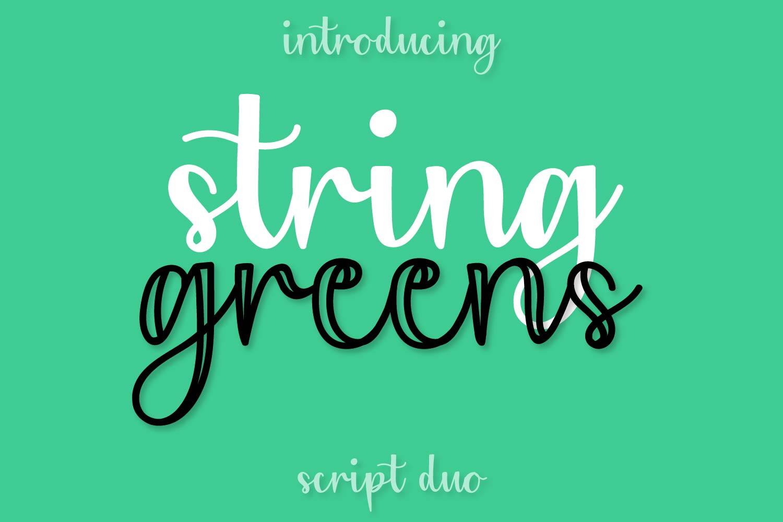 String Greens - A Fun Script Duo example image 1