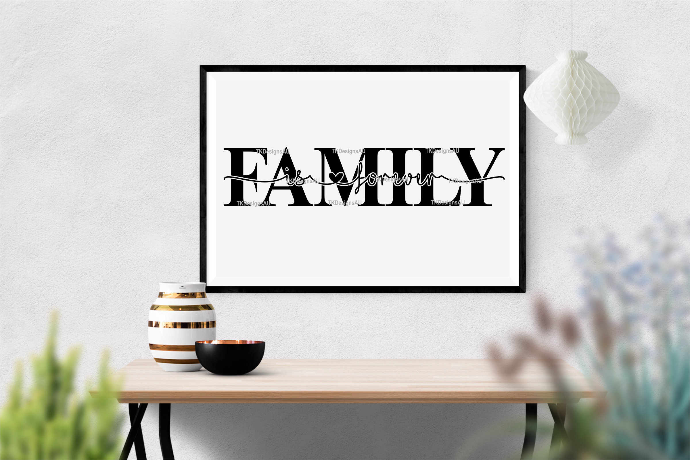 Family Is Forever Knockout SVG example image 2