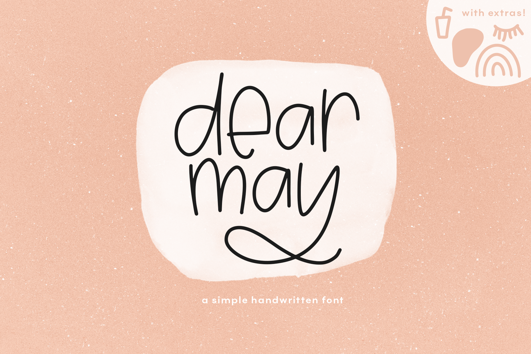 Dear May - A Fun Font with Doodles! example image 1