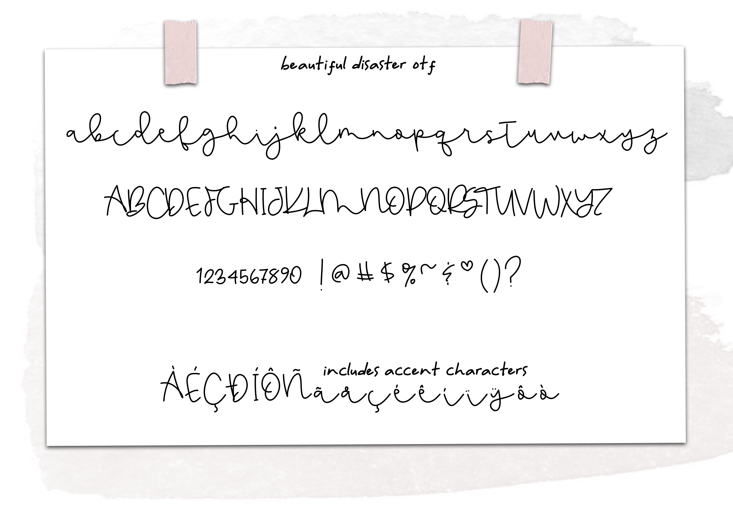 Beautiful Disaster OTF & SVG Font example image 11