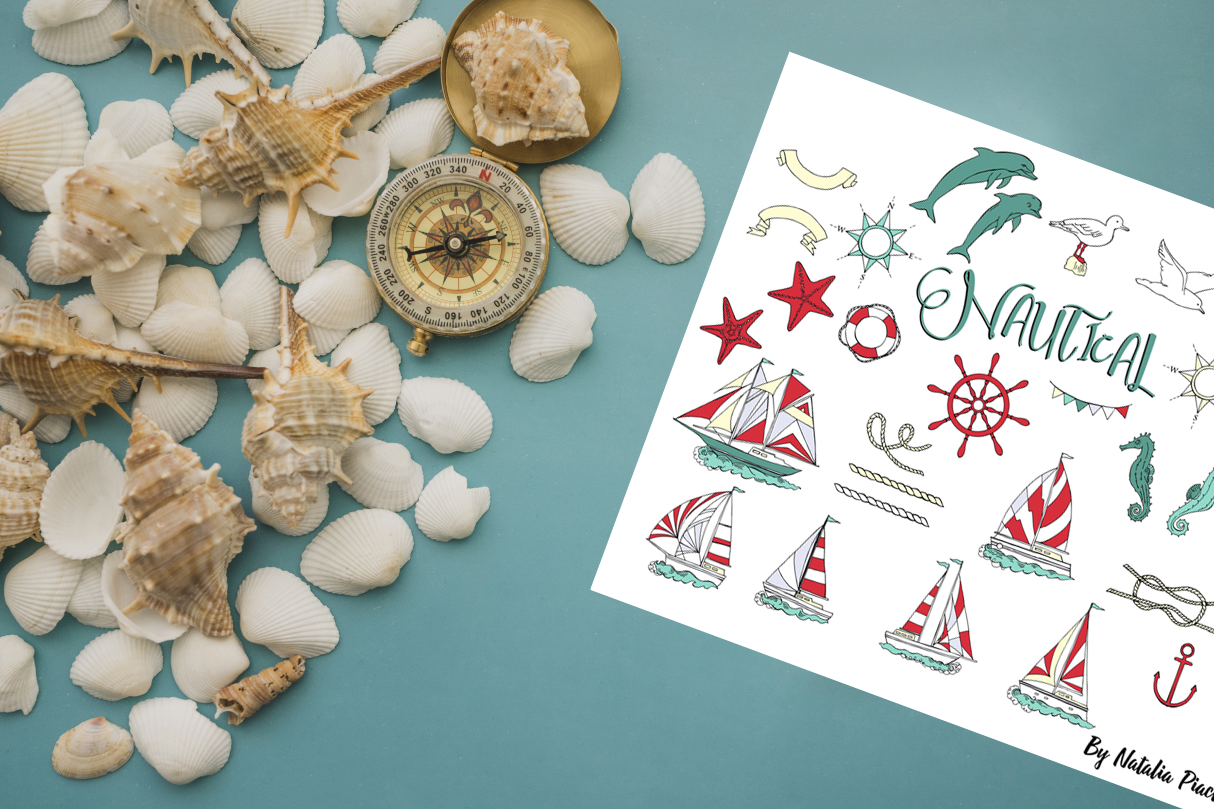 Nautical Elements with Ships example image 4