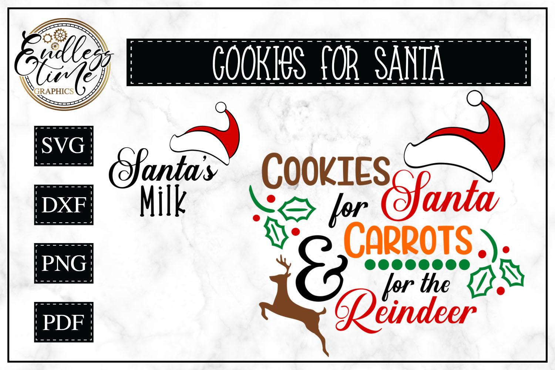 Cookies for Santa- Carrots for Reindeer SVG - Santa's Milk example image 1