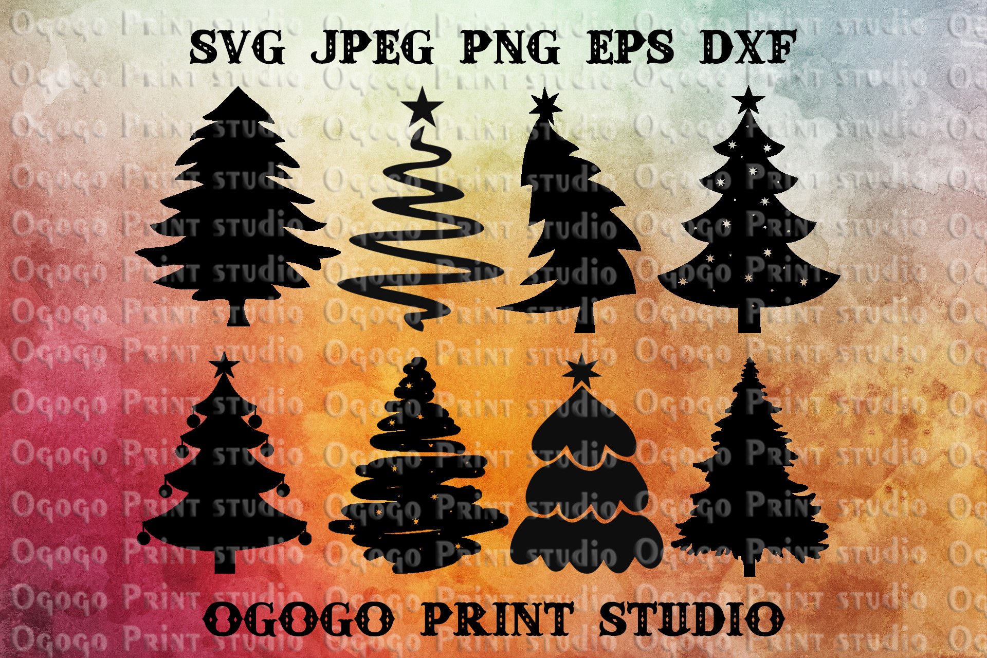 Christmas Tree Svg Bundle, Merry Christmas svg file example image 1