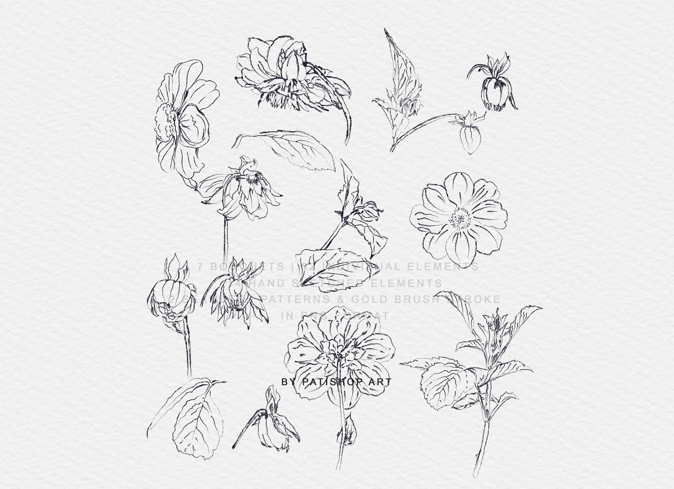 Watercolor Dahlia Flowers Clipart Collection example image 9