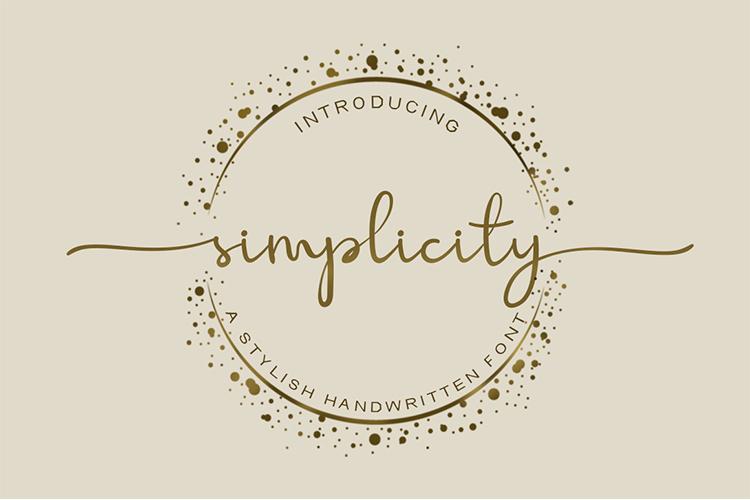 Simplicity Handwritten Font example image 1