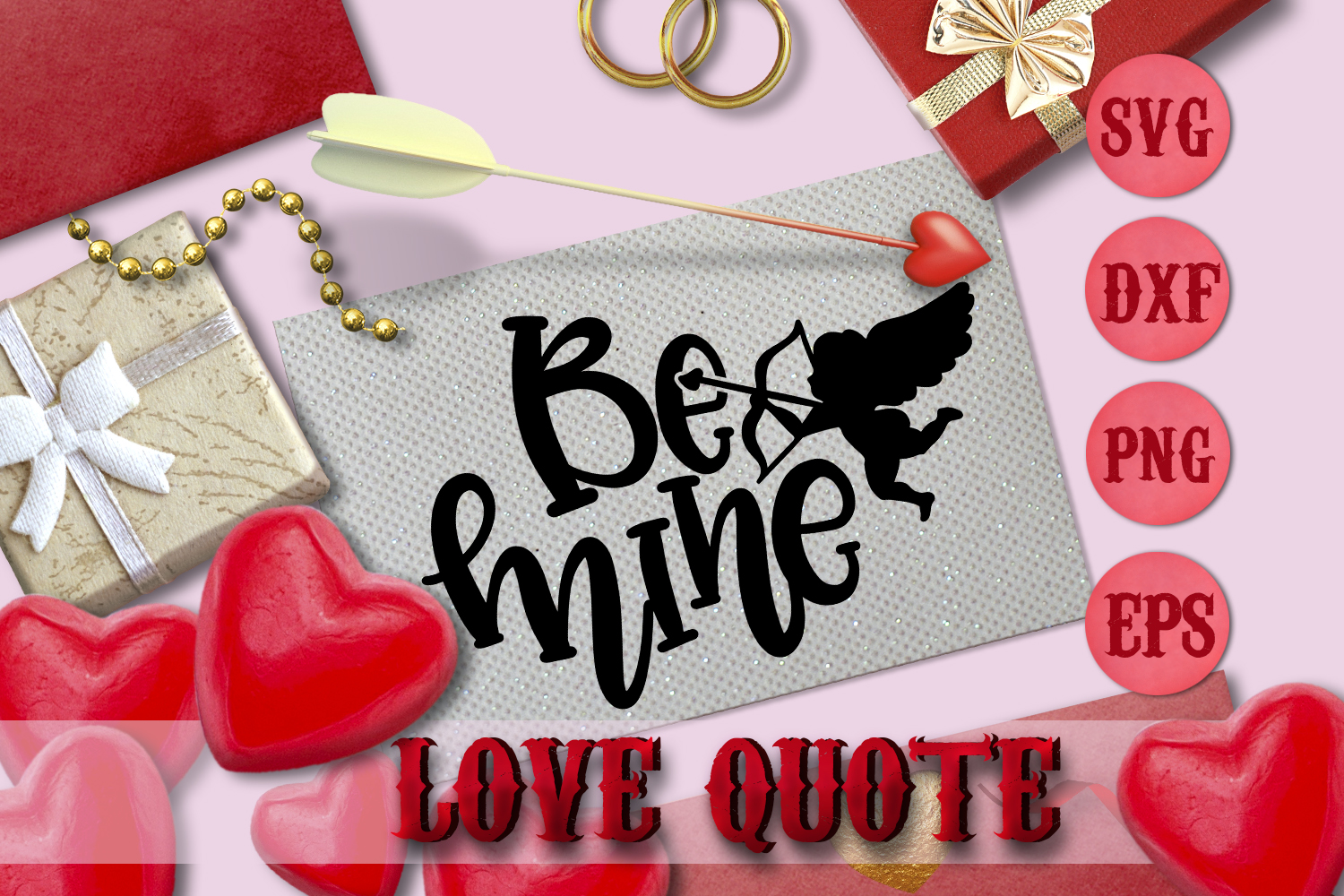 Be mine quote Valentine svg Love SVG for t-shirt Design example image 1