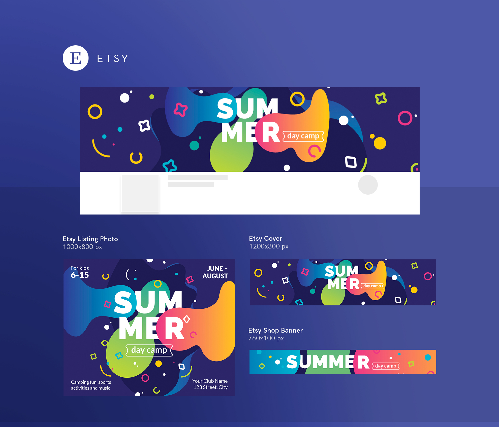 Summer Day Camp Design Templates Bundle example image 20