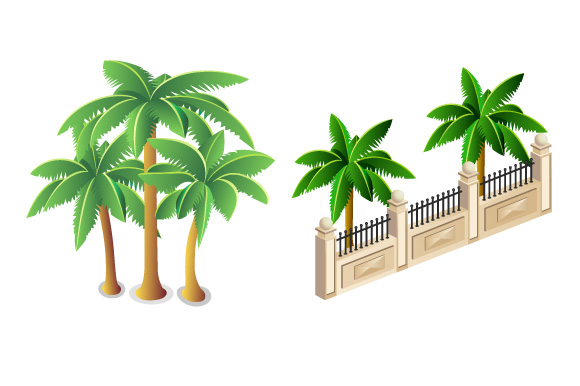 Set of vector images of trees example image 3