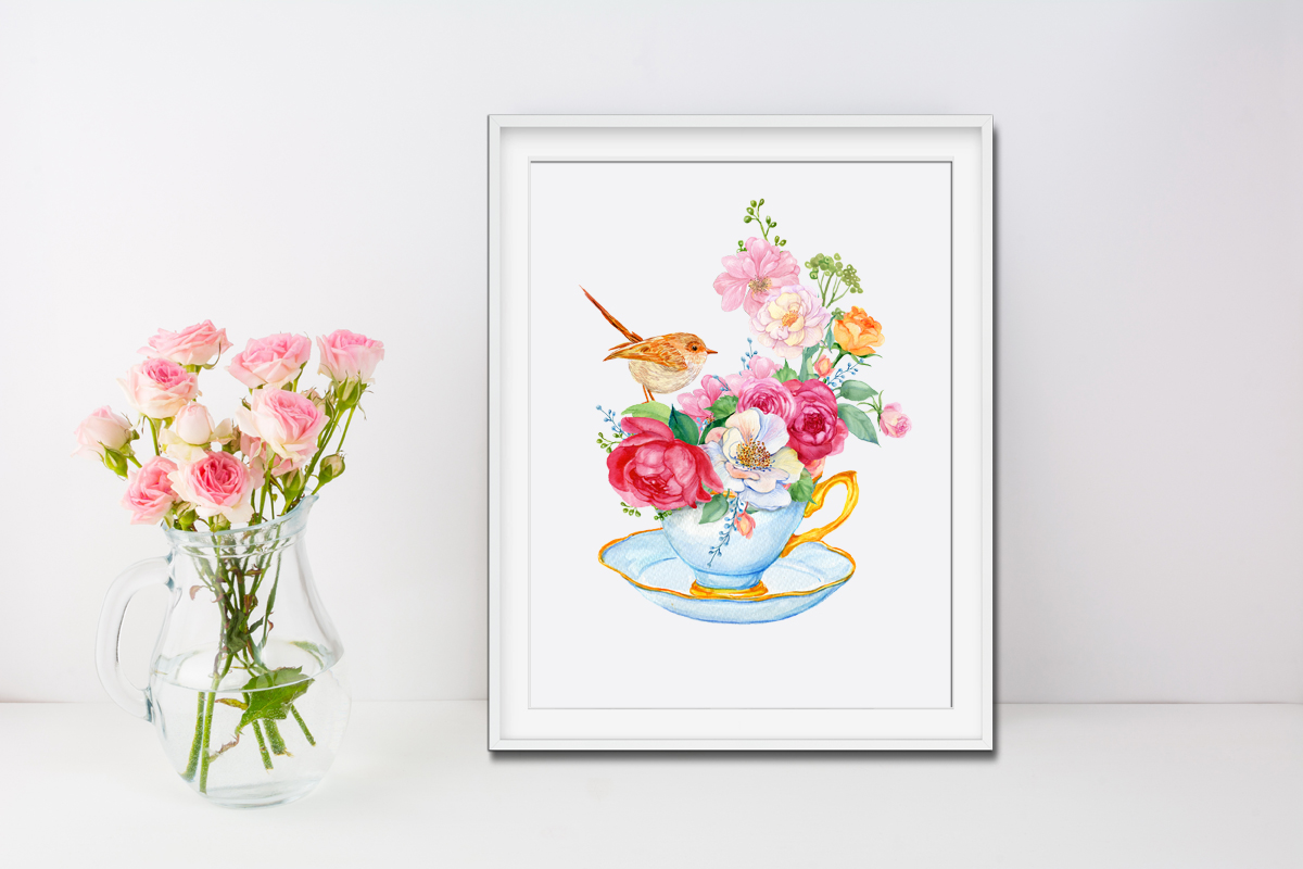 Hello spring watercolor illustration example image 4