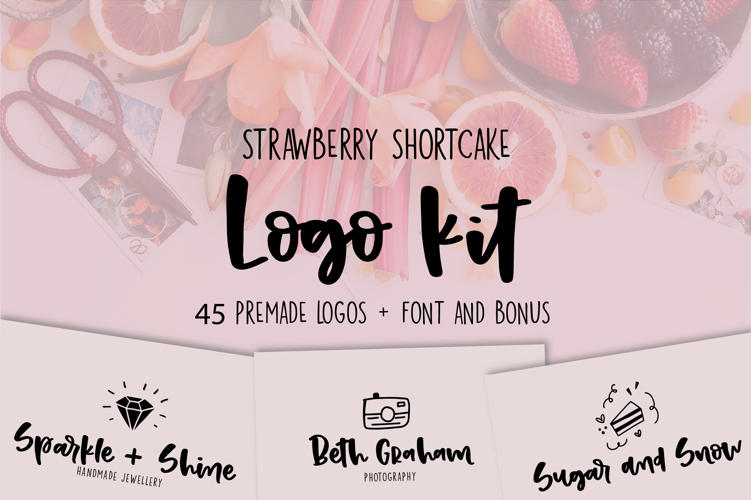 Strawberry Shortcake LOGO KIT  Bonus example image 1