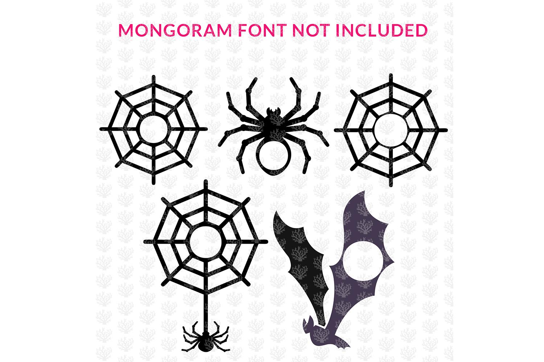 Big SVG Bundle - 31 Halloween Monogram Frame SVG EPS DXF PNG example image 3