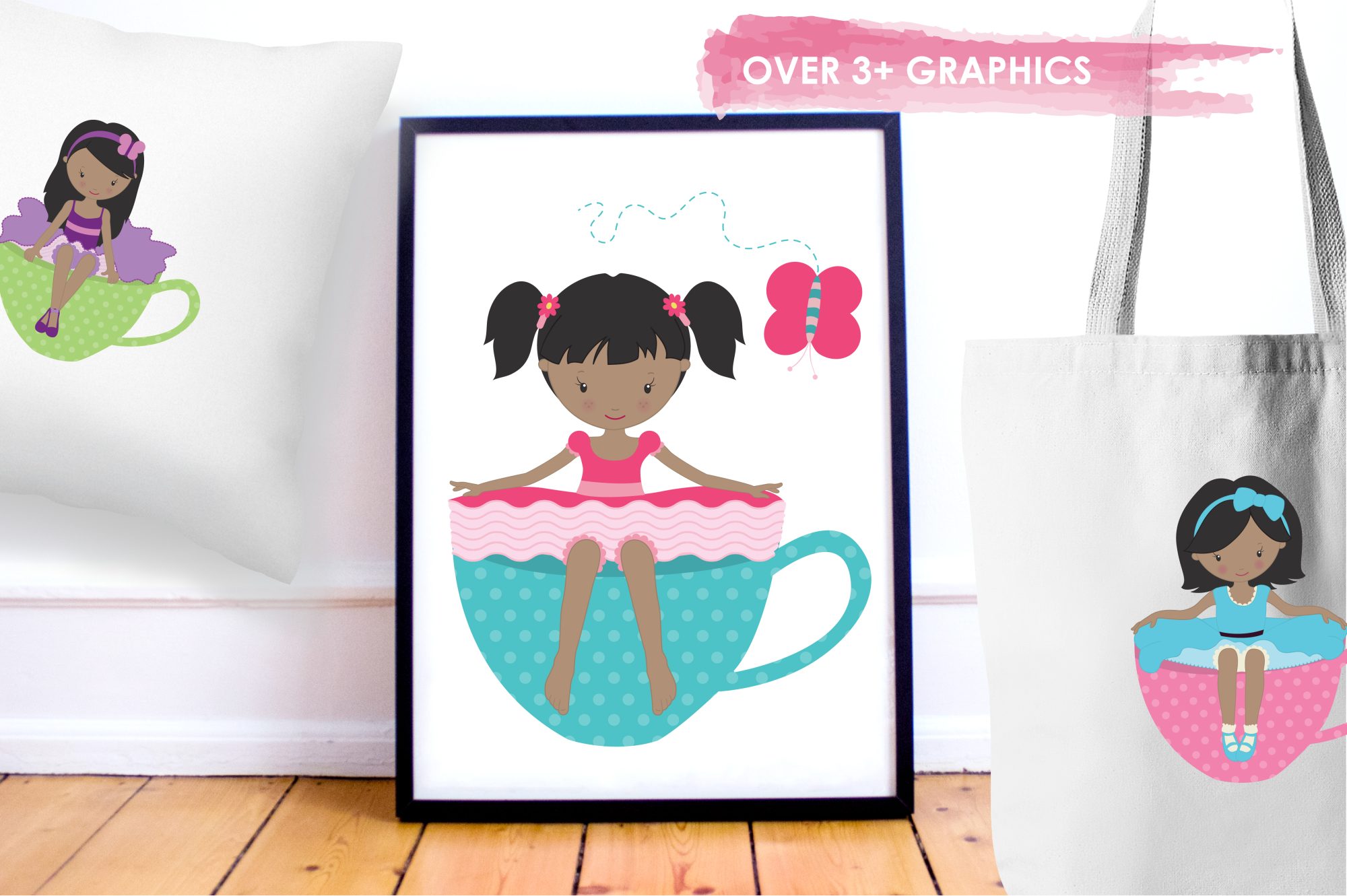 Tea Tot Girls graphics and illustrations example image 5