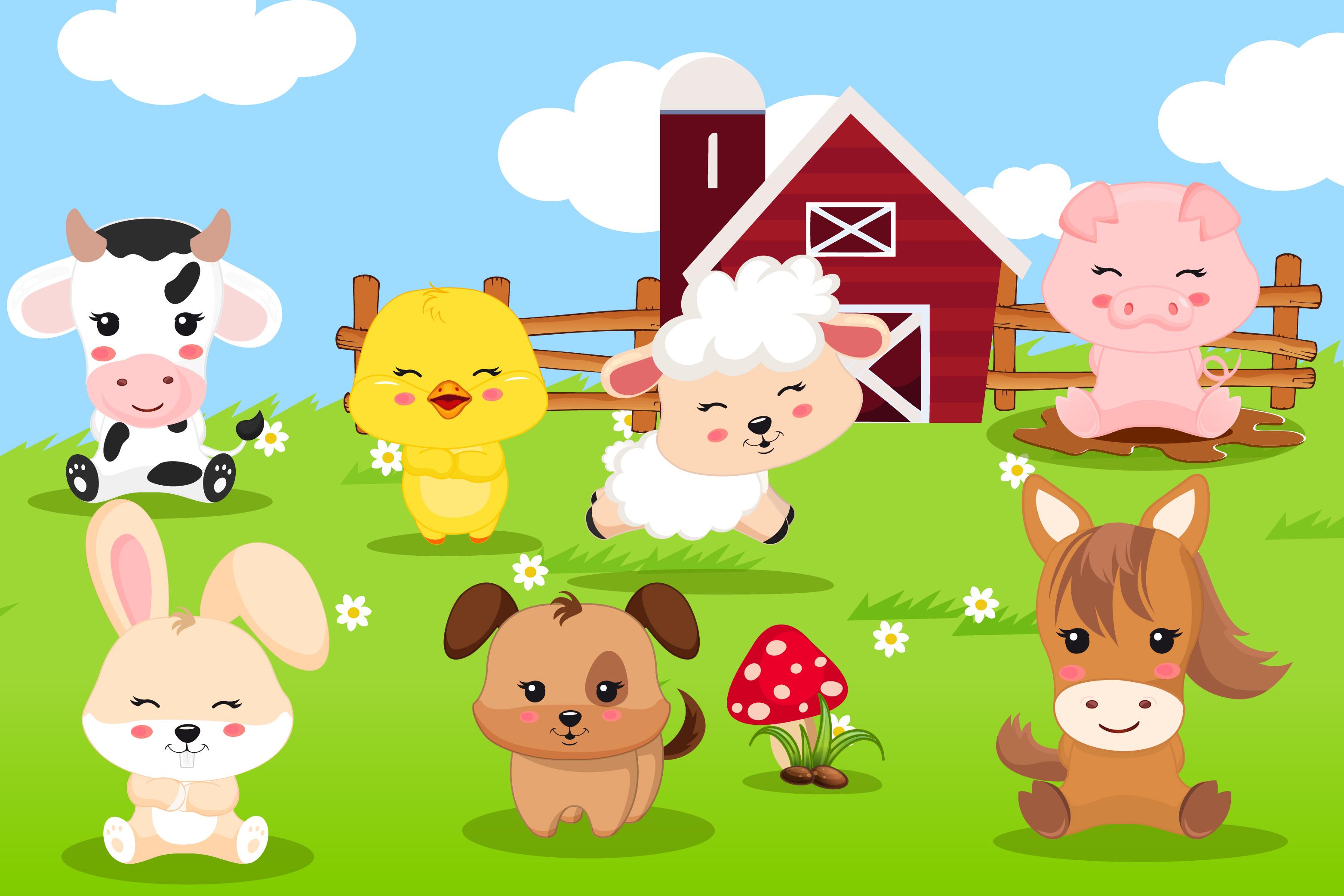 Farm animal clipart, Farm animal graphics (28215 ...