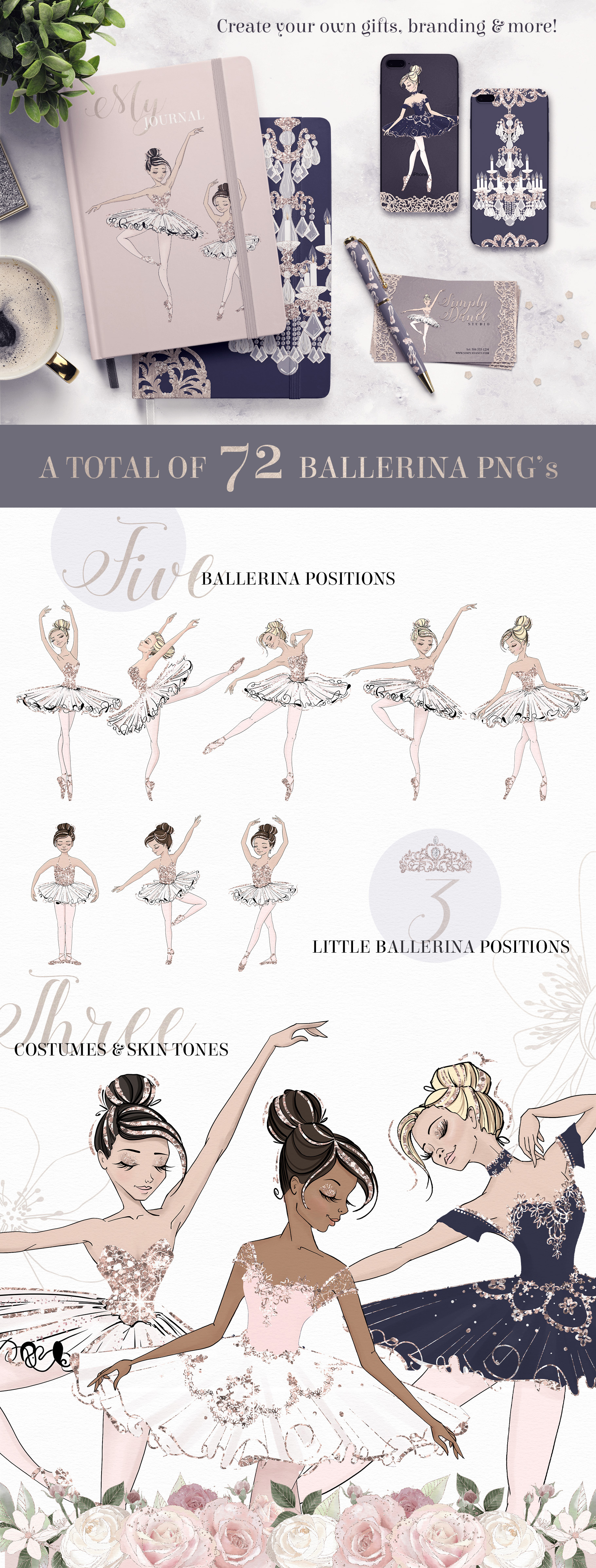 The Grand Ballerina Clipart Collection example image 3
