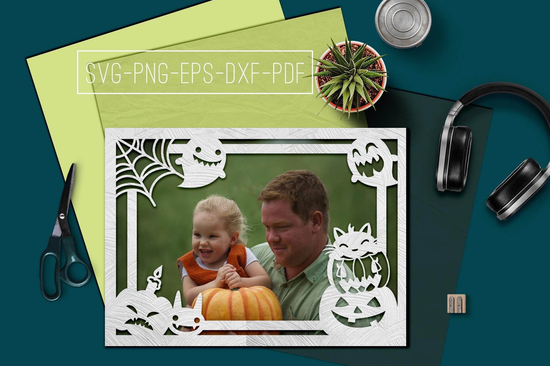 Happy Halloween Papercut Templates Bundle, Spooky, PDF, SVG example image 8
