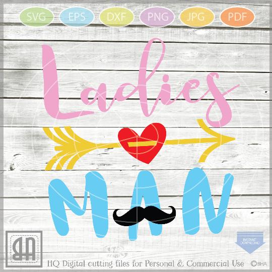 Ladies man Svg - Boy Valentine svg - Baby Boy SVG - Baby example image 1