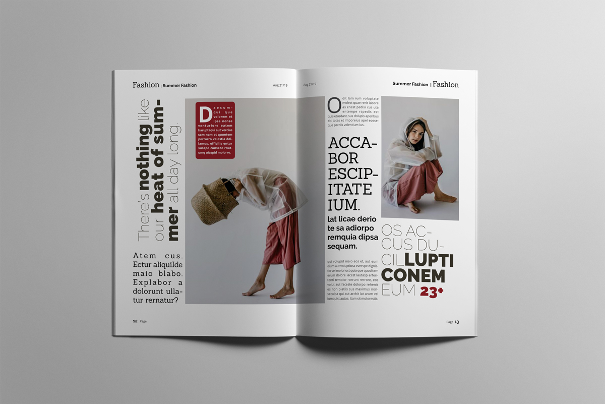 Magazine layout design example image 7